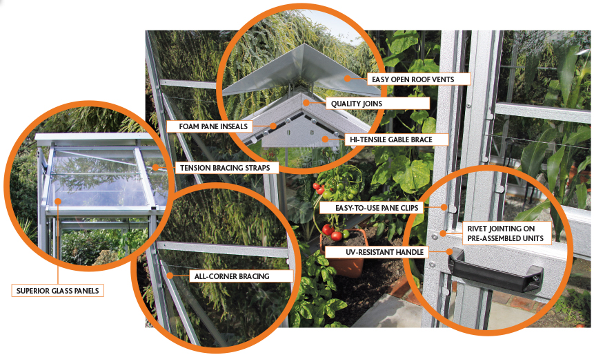 Christie quality glasshouses - features